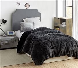 Are You Kidding? - Coma Inducer Twin XL Duvet Cover - Faded Black/Black