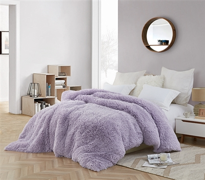 Coma Inducer Twin XL Duvet Cover - Are You Kidding? - Orchid Petal/White