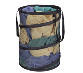 Pop-up Spring Form Mesh Hamper Pop Open Space Saving Hamper