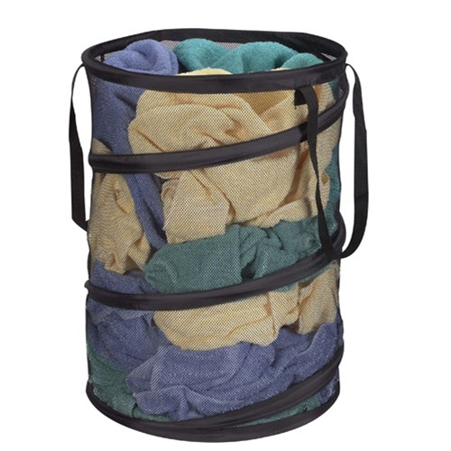 Pop Up Spring Form Mesh Hamper Pop Open Space Saving Hamper Part 43