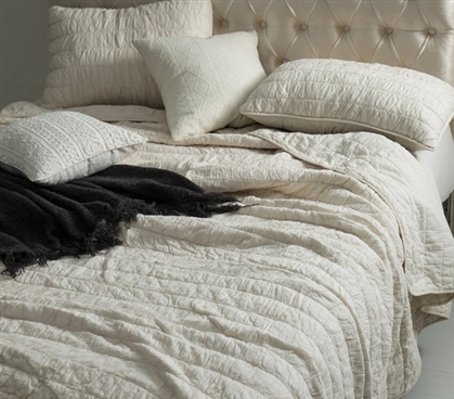 Jet Stream Cotton Pure Textured Quilt - Twin XL