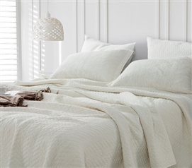 Jet Stream Cotton Virtue Textured Quilt - Twin XL