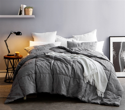 Alloy Blended Textured Quilt - Single Tone - Twin XL