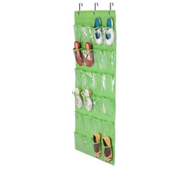 Lime Green Shoe Organizer - Over-The-Door 24 Pocket