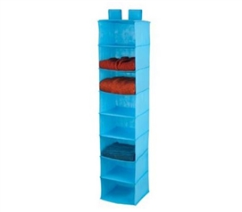 Blue 8-Shelf Hanging Organizer Dorm Organization Dorm Storage Solutions