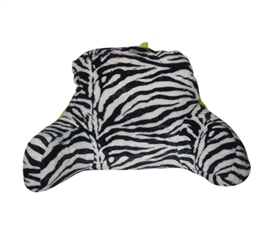 The Plush Zebra Bedding Backrest - Lime