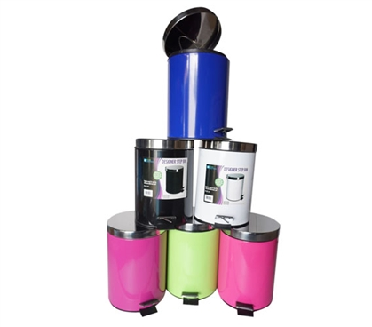 Step Waste Bin - Available in Multiple Colors College Supplies Must Have Dorm Room Gadgets