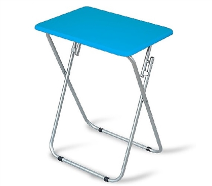 Square Folding Table - Blue Dorm Essentials