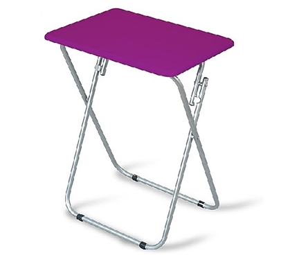 Square Folding Table - Purple Dorm Essentials