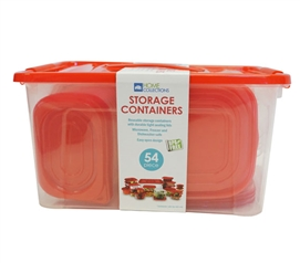 54 Piece Nesting College Food Storage Containers