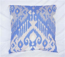 Dorm Bedding Blue Candelabra Cotton Throw Pillow
