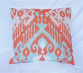 Candelabra - Rust - Cotton Throw Pillow