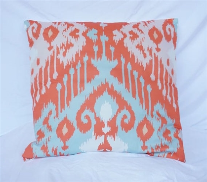 Dorm Pillow Candelabra Cotton Throw Pillow Rust