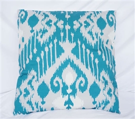 Candelabra Ocean Depths Teal Cotton Throw Pillow Dorm Bedding