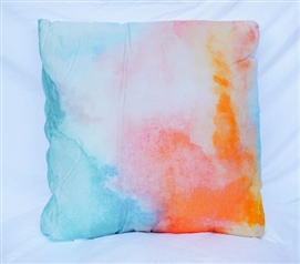 Light Pink Dorm Bedding Water Color Cotton Throw Pillow