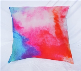 Watercolor - Pink - Cotton Throw Pillow