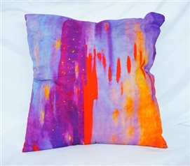 Lava Lamp - Cotton Throw Pillow