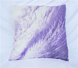 Wave Foam - Daybreak Purple - Cotton Throw Pillow