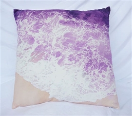 Dorm Decor Purple Reign Beach Shores College Cotton Throw Pillow
