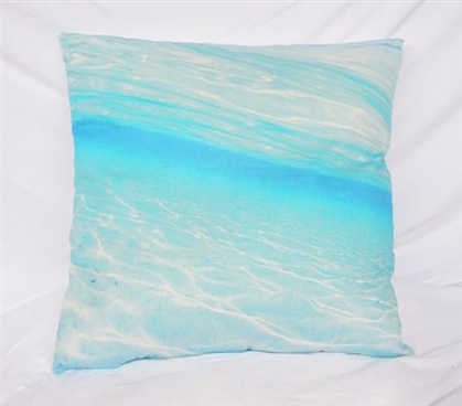 Cotton College Throw Pillow Blue Crystal Clear Twin XL Bedding