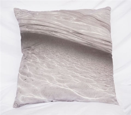 Crystal Clear - Pewter - Cotton Throw Pillow