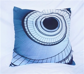 Dorm Decor Nightfall Navy Twin XL Cotton Throw Pillow Spiral Stairs