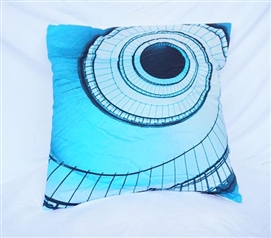 Extra Long Twin Bedding Dorm Decor Cotton Throw Pillow Aqua Spiral Stairs