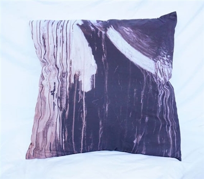Dorm Bedding Cotton Throw Pillow Black Decor Drip Paint Design
