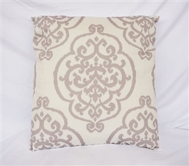 Silver Dorm Decor Fleur-de-lis Twin XL Bedding Cotton Throw Pillow