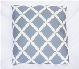 Citadel Quatrefoil Design Cotton Throw Pillow Dorm Decor