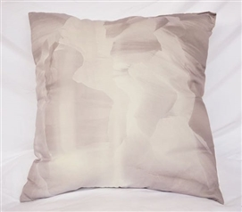 College Cotton Throw Pillow Antelope Canyon Glacier Gray