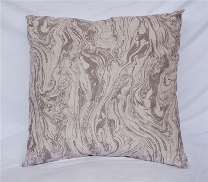 Marble - Gray - Cotton Throw Pillow