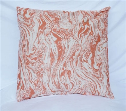 Marble - Copper - Cotton Throw Pillow