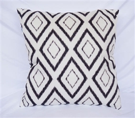 Black Blurred Diamond Decorative Dorm Cotton Throw Pillow