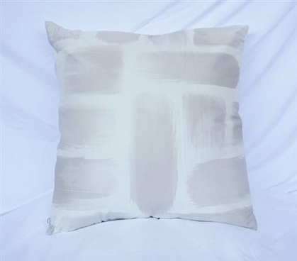 Decorative Dorm Cotton Throw Pillow Brushstrokes Silver Birch Design