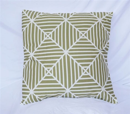 Mosstone Clashing Stripes College Cotton Throw Decorative Dorm Pillow
