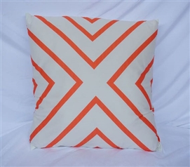 Fusion Coral College Cotton Throw Pillow X Marks the Spot
