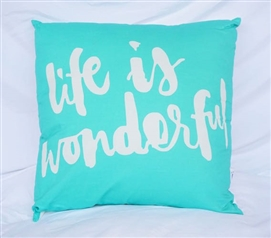 College Cotton Throw Pillow Cockatoo Dorm Decor Life Is Wonderful Message