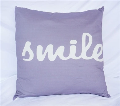 Dorm Decor Cotton Throw Pillow Alloy Big Smile College Pillow