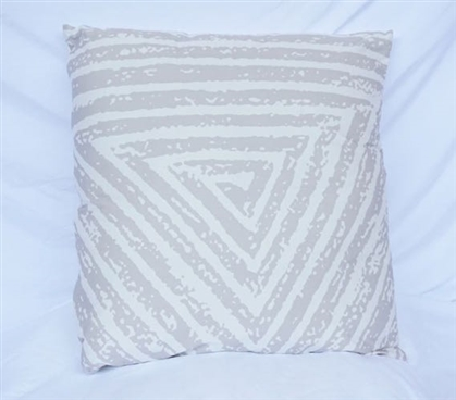 Spiral Triangle - Silver Birch - Cotton Throw Pillow