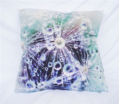 Morning Dew - Cotton Throw Pillow
