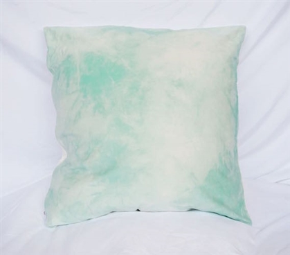 Dorm Decor Cotton Throw Pillow Cloudy Day Hint of Mint College Bedding