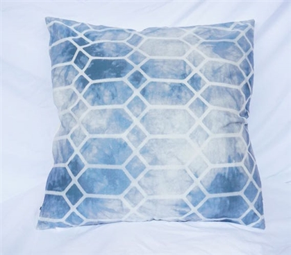 Prism - Blue - Cotton Throw Pillow