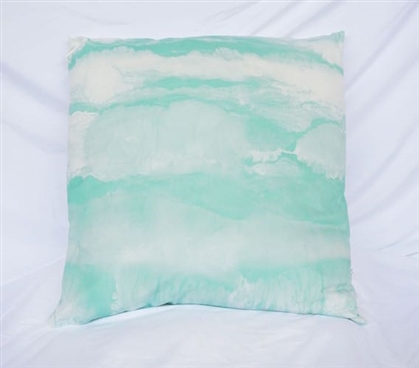 Ocean Layers College Cotton Throw Pillow Yucca Dorm Decor
