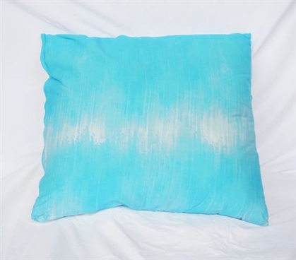 College Cotton Throw Pillow Sound Wave Aqua Dorm Decor