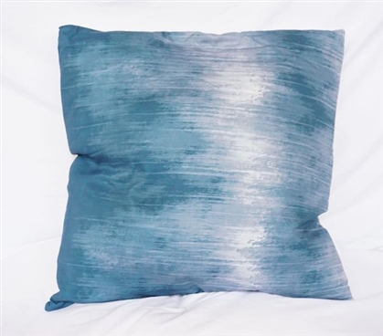 Twin XL Bedding Navy Cotton Throw Pillow Soundwave Design