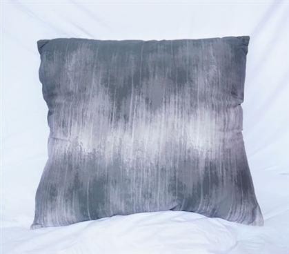Sound Wave Pewter Twin XL Bedding Cotton Throw Pillow
