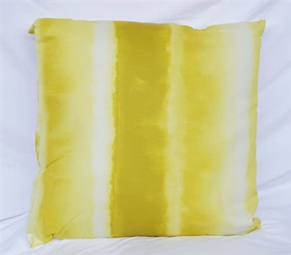 Limelight Yellow College Decor Spectrum Cotton Throw Pillow