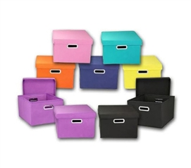 Color Cube Storage Bin - 2 Pack Dorm Essentials Must Have Dorm Items