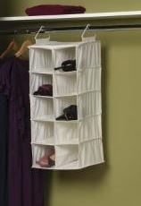 Double Hang Dorm Closet Organizer   10 Pockets